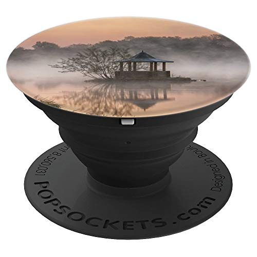 - Lake Dawn Water Pond Tranquility Reflection Fog - PopSockets Grip and Stand for Phones and Tablets
