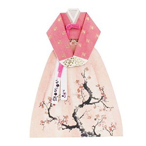 [Thank you Greeting Cards Card Korean Traditional Hanbok (BLOSSOM)] (Korean Culture Costume)