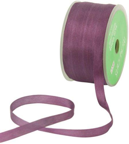 May Arts 1.4-Inch Wide Ribbon, Violet Silk Ribbon ()