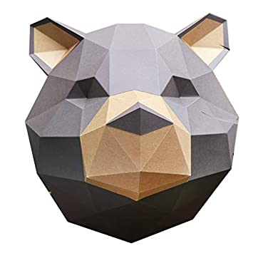 Marron Ours Et Trophée Papercraft Assembli Grizzly Kit À Kraft wTXOUaq