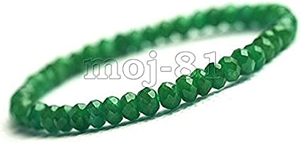 5x8mm Red and Green Faceted Jade Rondelle Gemstone Loose Bead Strand 15 Inch