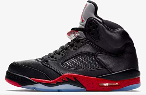 n 5 Retro Satin Black/University Red 136027-006 (Size: 10) ()
