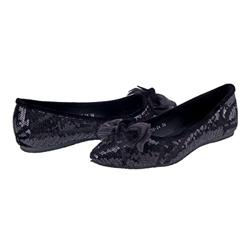 Flat Sequins Shoes Prom Elegant Paved Womens Damara Party xq4Zw8cH