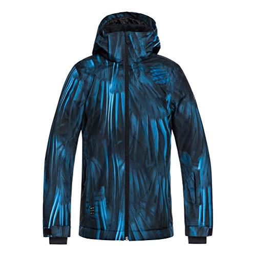 Quiksilver Boys Mission Printed Youth 10K Snow Jacket, Daphne Blue Stellar 14/XL