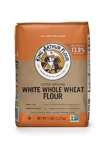 King Arthur White Whole Wheat Flour, Unbleached, 5 Pounds
