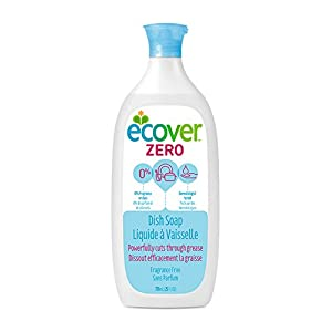 Ecover Zero Dish Soap, Fragrance Free, 25 Ounce (Pack 6)