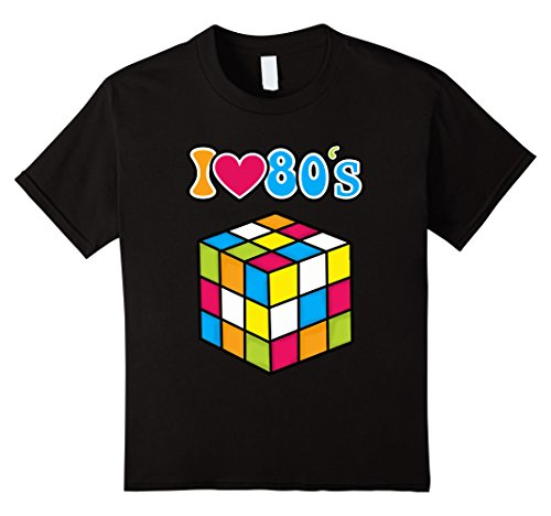 Kids I Love The 80's Eighties Disco Gaming T-Shirt 12 Black