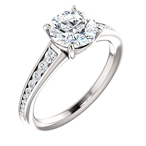 Classic Style Graduated Diamond Channel Set Engagement Ring