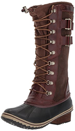 Sorel Women's Conquest Carly II Mid Calf Boot, Redwood, Tobacco, 8 B US