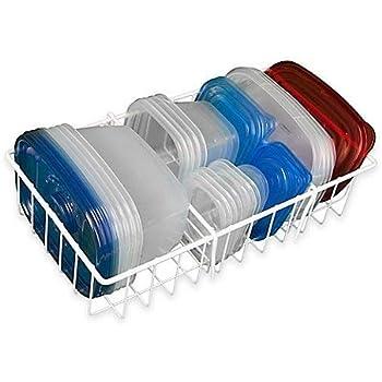 Hoovy White Adjustable Food Storage Organizer [14