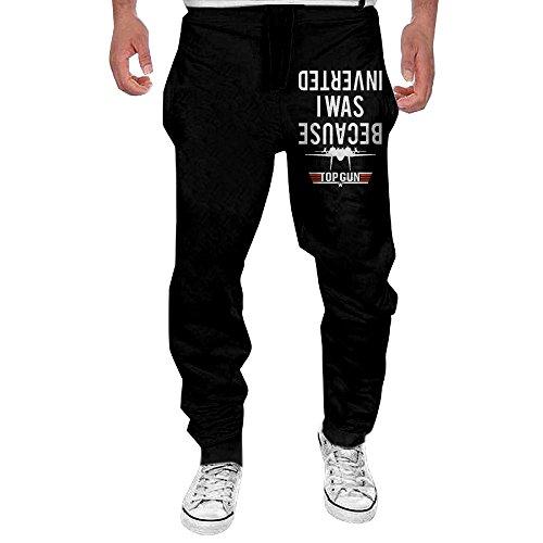 Blu Ribbed Jersey (Men's I Was Inverted Navy Drawstring Jersey Sweatpants Black M)