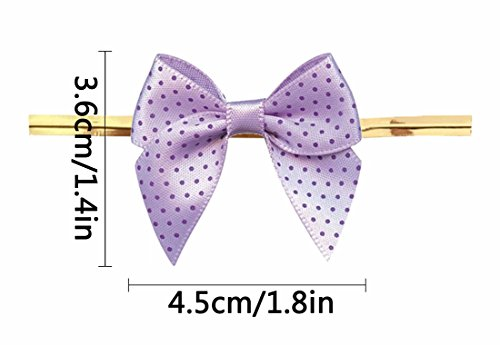 Thistle Gift Bows,Twist Tie Bows for Bakery Candy Lollipop Cello Bag (50 Pack) by Aulens