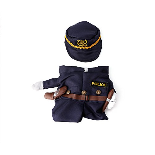Delight eShop Funny Pet Costume Dog Cat Costume Clothes Dress Apparel Doctor Policeman Cowboy (S) (Doctor Dog Costume)