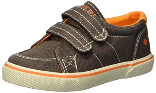 - SPERRY Boys' Halyard H&L Sneaker, Brown Saltwash, 7 Medium US Toddler