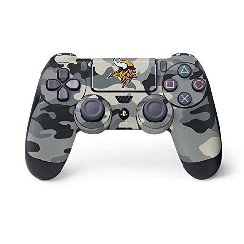 Skinit Minnesota Vikings Camo PS4 Controller Skin - Officially Licensed NFL PS4 Decal - Ultra Thin, Lightweight Vinyl Decal Protective Wrap