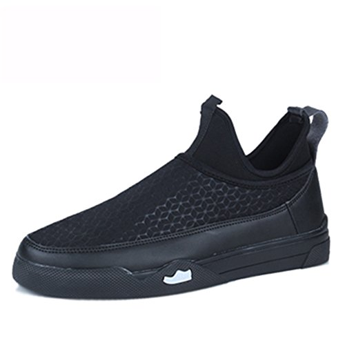 Men's Shoes Feifei Spring and Autumn Fashion Personality Leisure Plate Shoes 3 Colors (Color : Black, Size : EU42/UK8.5/CN43)
