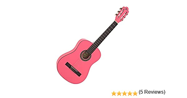 Guitarra Clasica Junior Deluxe Pink de Gear4music: Amazon.es ...