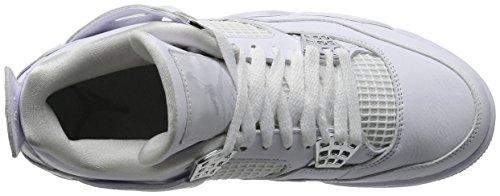 Nike Air Jordan 4 Retro Ren Penge - Hvid / Metallisk Sølv Træner Hvid H9slp