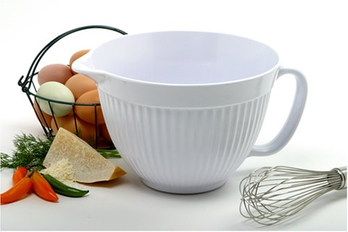 Norpro Grip-EZ 3-Quart Melamine Batter Bowl, White by Norpro (Image #2)