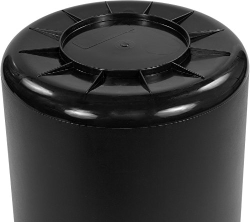 Carlisle 34101003 Bronco Round Waste Container Only, 10 Gallon, Black by Carlisle (Image #3)