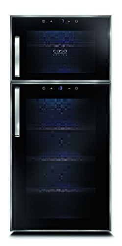 Caso WineDuett Touch 21 - wine coolers (freestanding, 7 - 18 °C, 10 ...