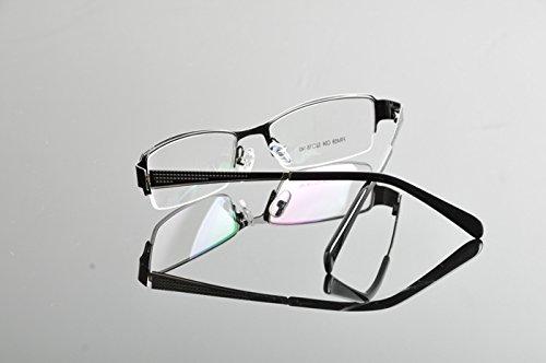 De Ding Fashion Demi Cadre Lunettes Eyewear