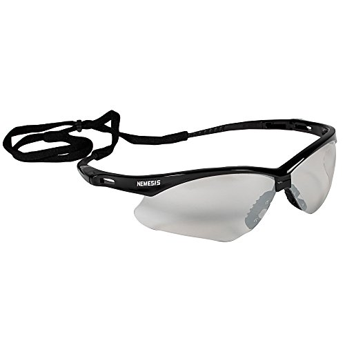 - Jackson Safety V30 Nemesis Safety Glasses (25685), Indoor / Outdoor Lens with Black Frame, 12 Pairs / Case