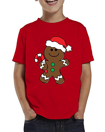 SpiritForged Apparel Christmas Gingerbread Man Toddler T-Shirt, Red 2T (Merry Christmas Jolly)