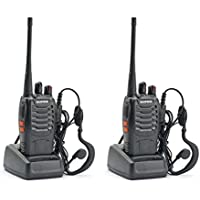 BrainyTrade 1 Pair Handheld Walkie Talkie UHF Radio 3W FM 16 channel Transceiver