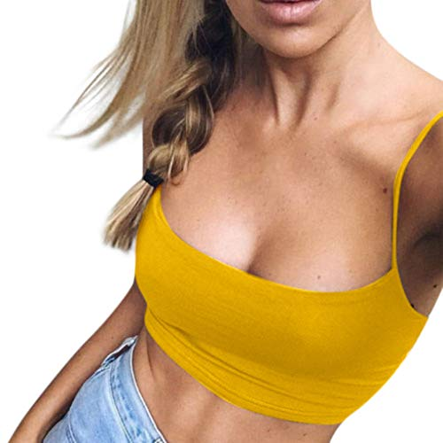 Women Yoga Tank Top BOLLH Backless O-Neck Sport Workout Camisole Vest Button Loose Pullover T-Shirt Tunic - Printing 23 Official