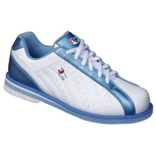 3g Dames Kicks Bowlingschoenen (8.5, Wit / Blauw)
