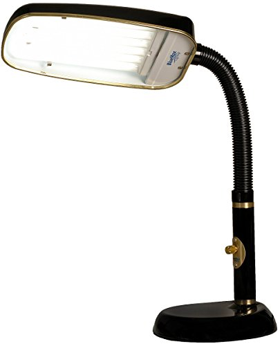 BlueMax 1-Light Full Spectrum Desk Lamp Black BL70FSDL-B-V2 ()