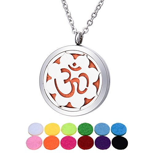 Aromatherapy Essential Oil Diffuser Necklace/ Stainless Steel Hollow flowers/