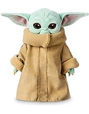 """Disney Store Grogu pluche knuffel, Star Wars The Mandalorian, 25cm/9"""", knuffelig Grogu speelgoed met klassieke jurk en geborduurde gezichtskenmerken, geschikt voor alle leeftijden"""