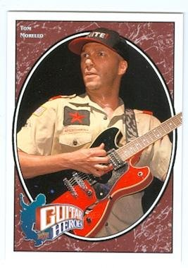 Tom Morello trading card (Rage Against The Machine Guitarist) 2008 Upper Deck Football #253 Guitar Heroes Autograph Warehouse