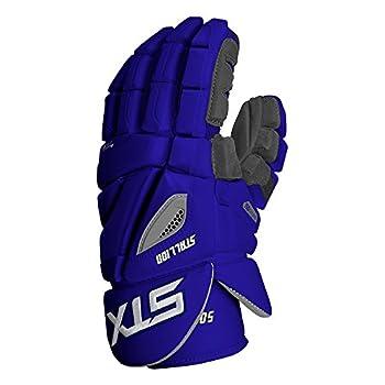 Image of STX Lacrosse Stallion 500 Gloves, Royal, Size 13