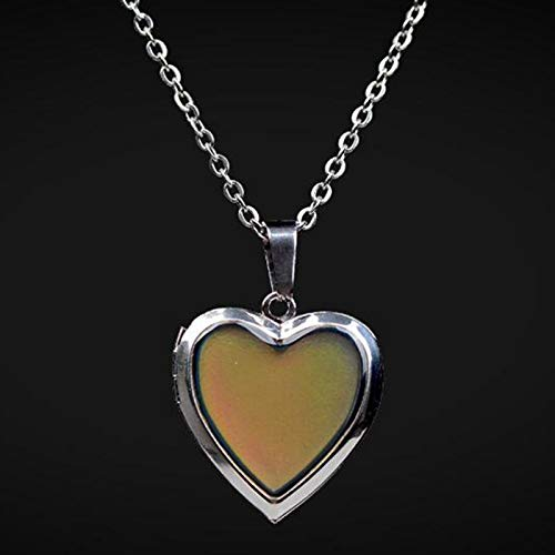CliPons Heart Shaped Color Change Mood Pendant Charm Necklace Quote A Mothers Love is Forever