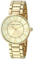 Anne Klein Women's AK/1788CHGB Gold-Tone Bracelet Watch