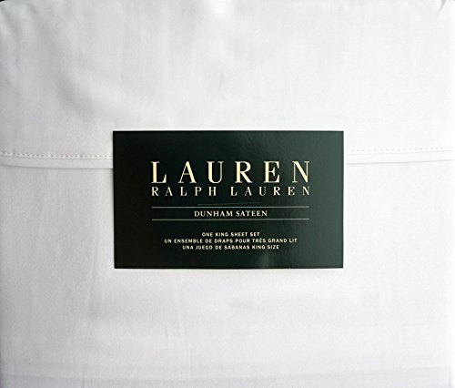 Lauren Ralph Lauren King Size Dunham Sateen 4 Piece Sheet Set 100% Cotton - ()