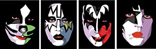 KISS FACES2 Car Window decal Detroit Rockers Music sticker Rock Band Metal Logo