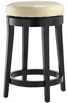 Leather Non tufted Swivel Counter Stool, COUNTER, CREAM
