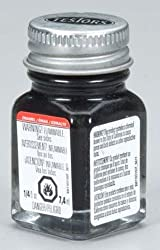 Semi Gloss Black Enamel Paint Testors 1/4 Oz by TESTORS