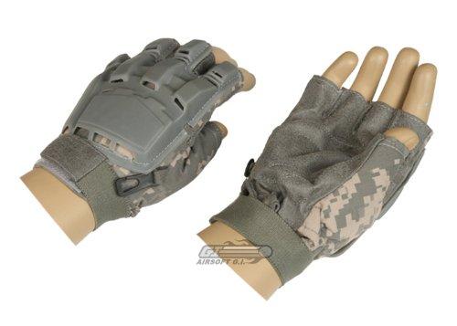 Lancer Tactical Armored Half Finger Gloves (ACU/Medium) by Lancer Tactical