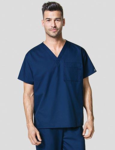 WonderWink Unisex-Adults V-Neck Top, Navy, - Scrubs Top Unisex Nursing