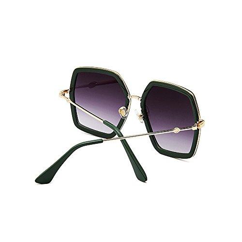 de Señora Lente Sol para Rojo para Gran Viajar Mujeres Protección de Personalidad y VerdeIrregular Sol UV Polígono de Gafas Gafas Conducir vIfA0q