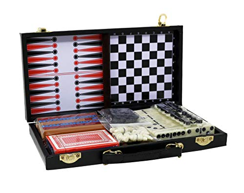 (Mini Game Sets of 6 for Kids Educational Prizes and Gifts - Chess, Checkers, Dominoes, and More Fun Travel Board Games)