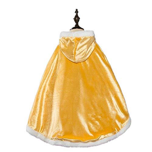 Enterlife Girls' Belle Princess Long Cloak Pure Cotton Winter Thicken Warm Cape Poncho Hoodie