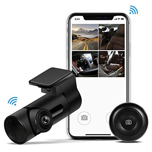 Yakola Y6 WiFi Dash Cam, Mini Car Camera, 360°Fisheye Panoramic Lens, 230°wide view angle, 1080P HD Dash Camera,24H Parking Monitor, Dashboard Camera Recorder,G-Sensor Loop Recording,HDR Yakola