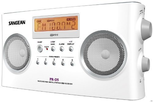 Sangean PR-D5 Portable Radio with Digital Tuning and RDS