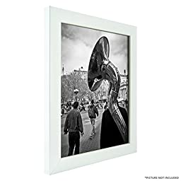 Craig Frames 23247812 8 by 10-Inch Picture Frame 4-Piece Set, Smooth Finish, 1-Inch Wide, White